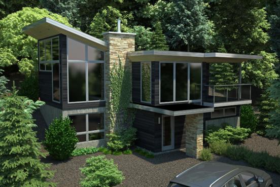M4 Architecture :: Portfolio style contemporain, modèle Grands Jardins
